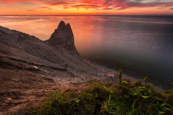 Chimney Bluffs After Sunset